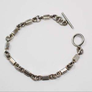 Jewelry - Sterling Silver Bar Link Chain Toggle Bracelet 6.5
